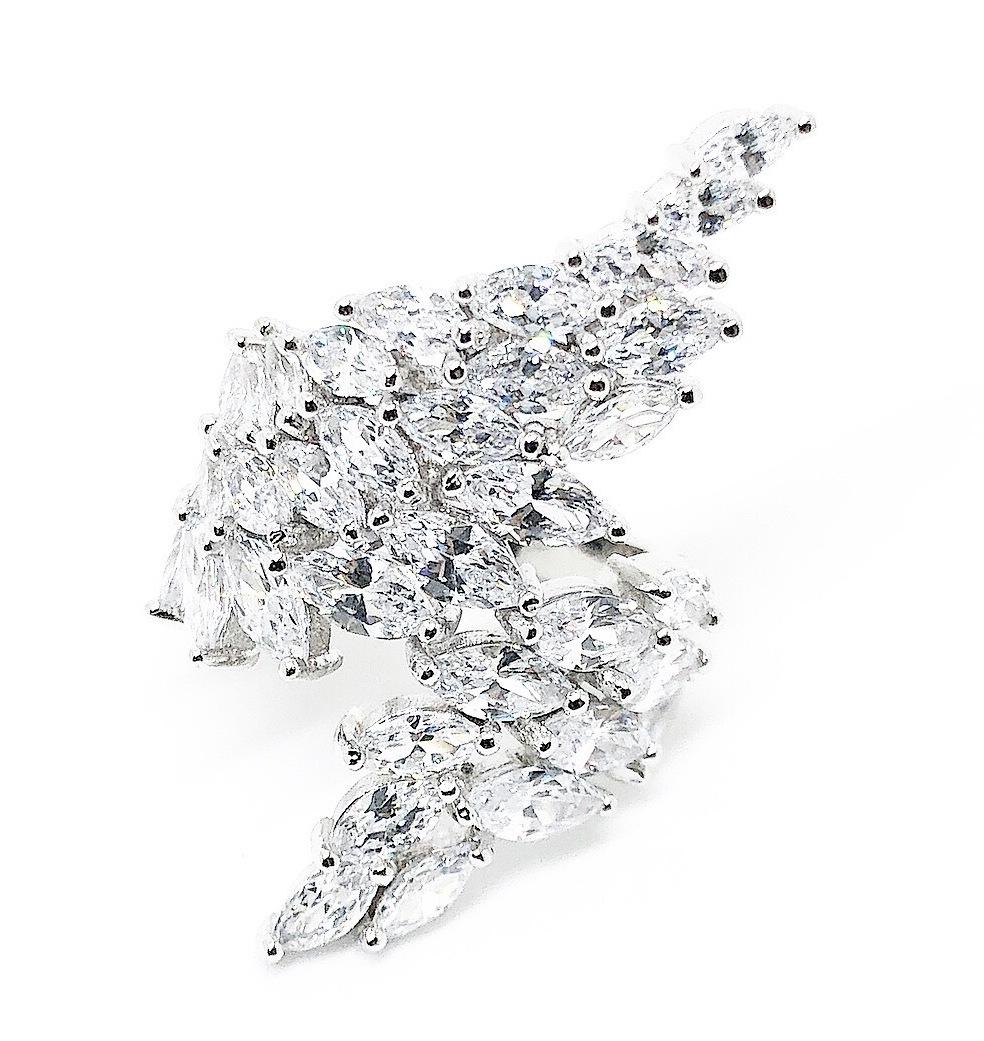 『世界一豪華』【新入荷】☆超大粒☆ 82連 ダイヤモンドリング 指輪 プラチナ仕上 上品 ギフト 記念日