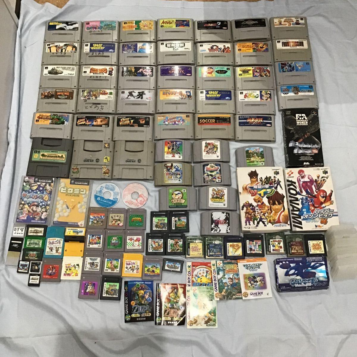 【中古任天堂ソフト】Nintendo ゲームボーイ ゲームボーイカラー スーパーファミコン 64 アドバンス DS キューブ まとめて87点