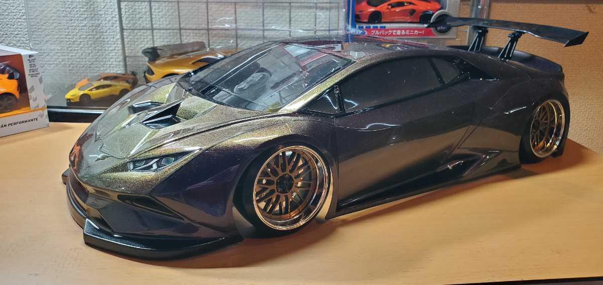 3レーシング 1/10 LGBボディキット(ランボルギーニ ウラカンLB仕様?)マジョーラカラー塗装済み 激レア品 ハイパーカー ドリフト