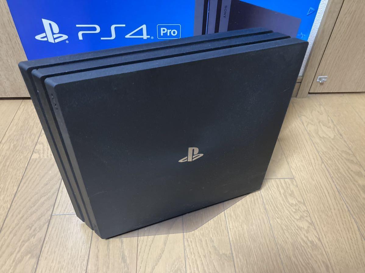 PlayStation 4 Pro ジェット・ブラック 500GB SSD換装済 純正スタンド、コントローラー充電器、メディアリモコン付