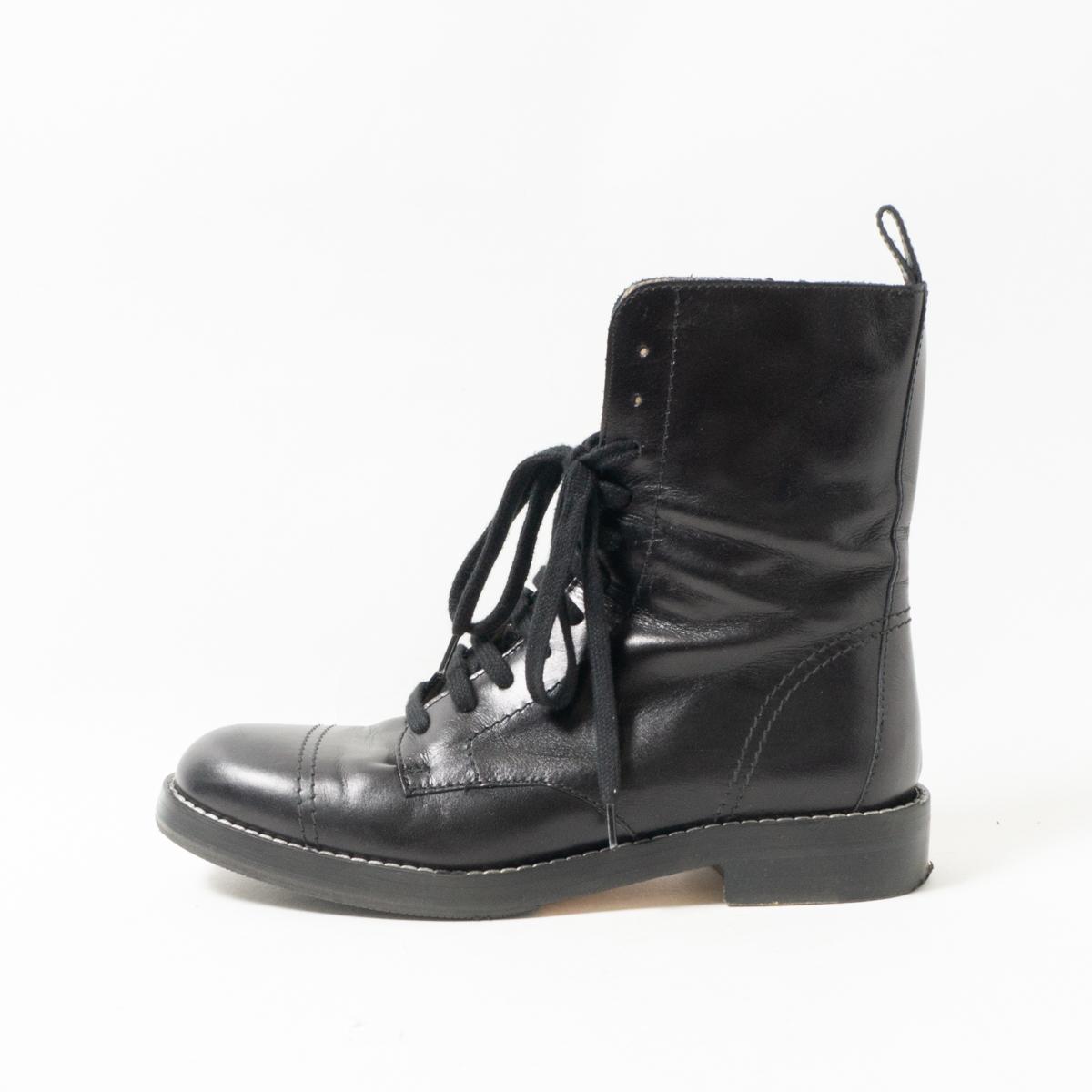 Theory セオリー レースアップ ブーツ 36 23cm S M 黒 ブラック ショートブーツ レディース ウィメンズ 靴 シューズ MADE IN ITALY