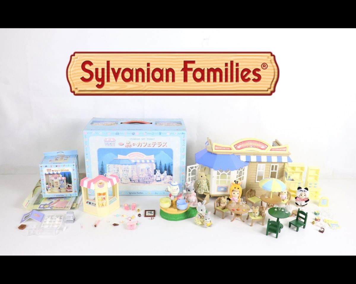 Sylvanian Families シルバニアファミリー まとめ 森のカフェテラス クレープハウス 建物 店 家具 テーブル 椅子 箱 玩具 女の子 JRDH27