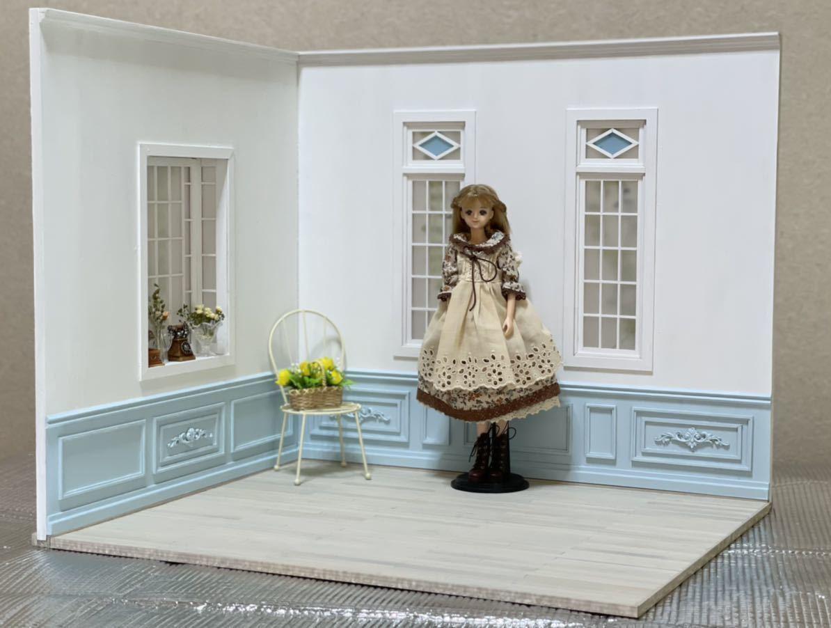 ☆【1/6サイズ ステンドグラス風窓Room】簡単に組立・分割できます!☆ドールハウス/ブライス/momoko/ジェニー/リカちゃん/ハンドメイド
