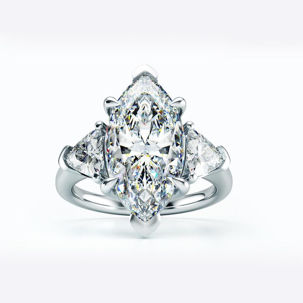 【最高純度】『過去最高級』◆ 高品質 3石 レディースダイヤリング 2ct【プラチナ仕上】注目 新品 贈答品