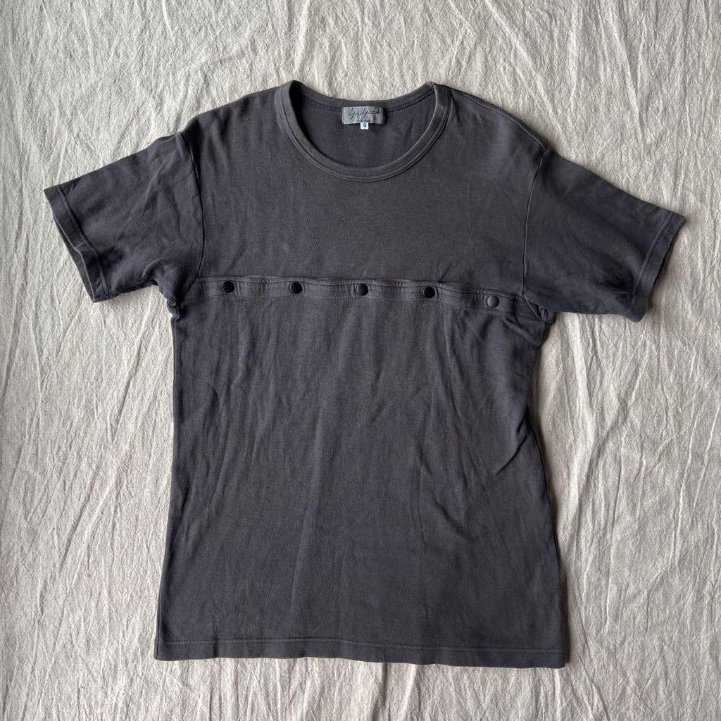 Yohji Yamamoto POUR HOMME ヨウジヤマモト スナップボタン 半袖Tシャツ y's for men