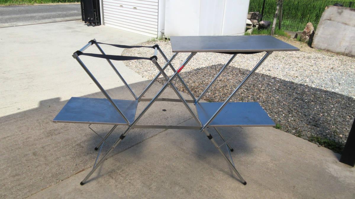 ■ユニフレーム キッチンスタンドⅡ ステンレス天板 調理テーブル キャンプ BBQ