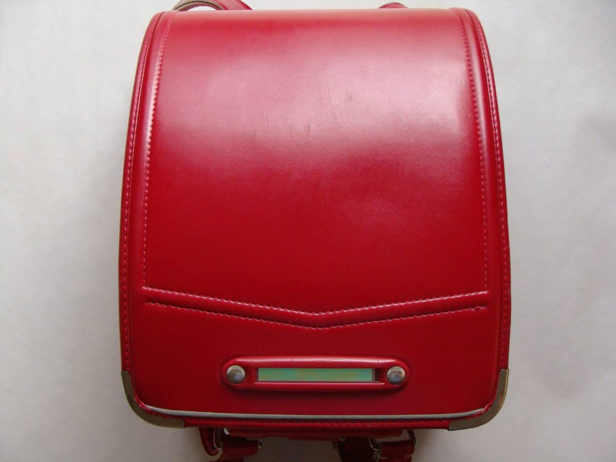 中古ランドセル(赤色)程度よし 大きなダメージなし 簡易クリーニング済み