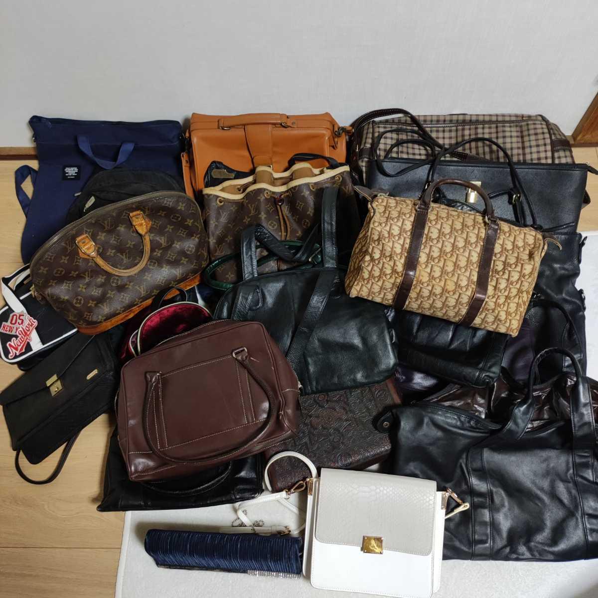 【ジャンクまとめ売り】1円~ ルイヴィトン Dior など バッグ 小物類 まとめ売り 大量 約25点! 卸 リペア