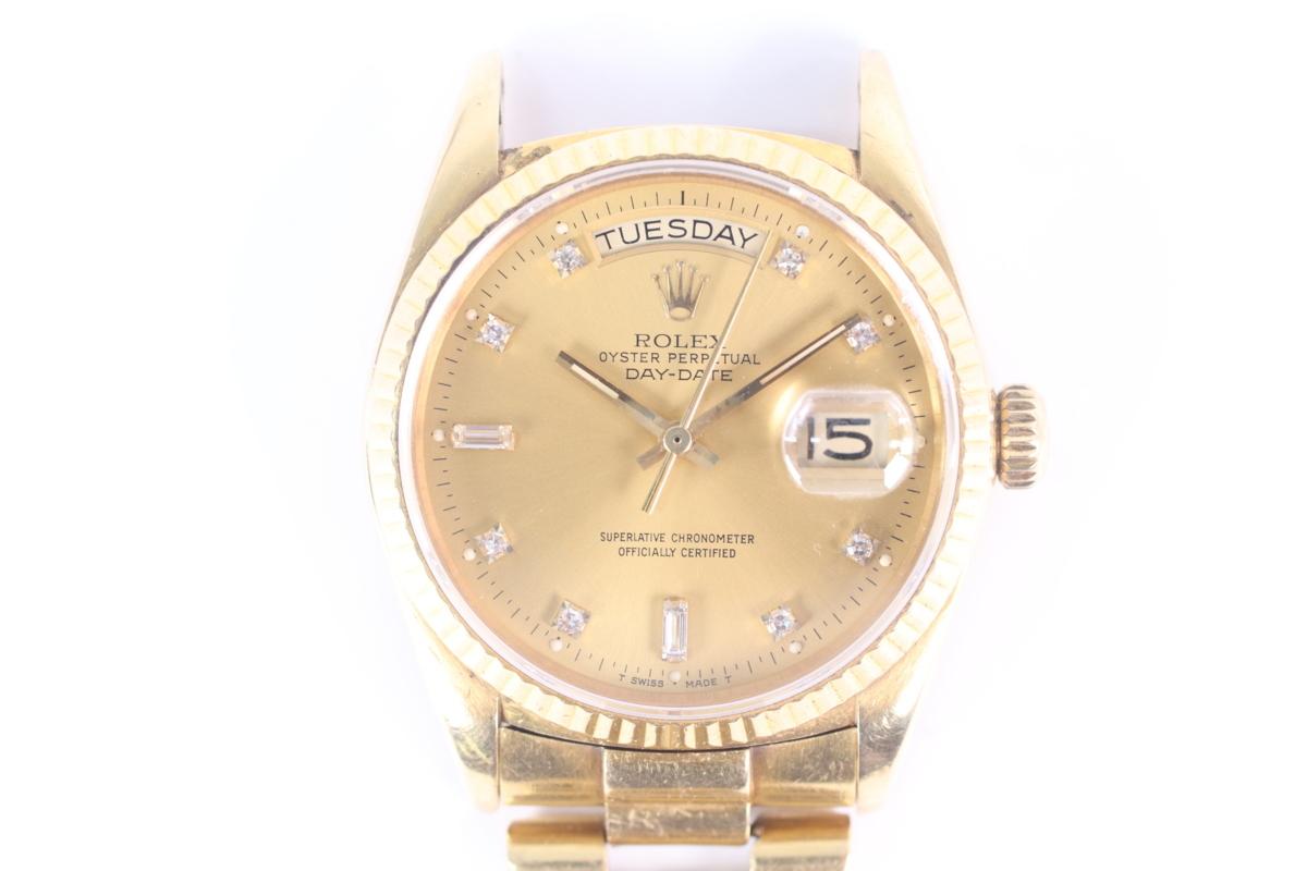 【ジャンク品】ROLEX ロレックス デイデイト 18K 750 金無垢 18038 98番台 7桁 自動巻き メンズ 腕時計 1466-A②