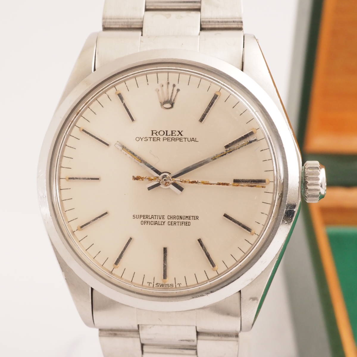 ロレックス オイスターパーペチュアル Ref,1002 ROLEX OYSTER PERPETUAL Cal,1570 ゴールド文字盤 自動巻 メンズ 男性腕時計[126667]
