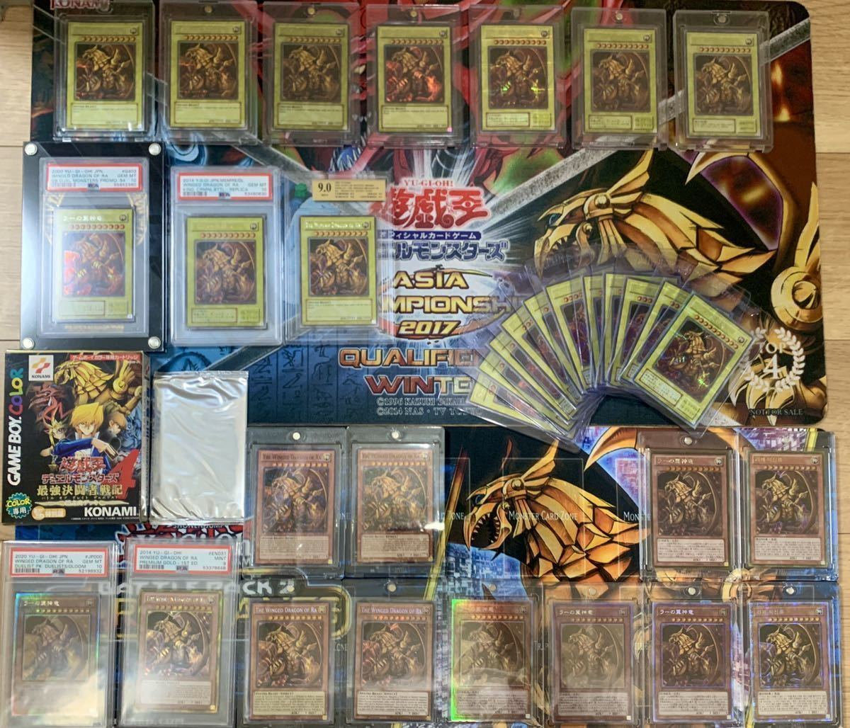 遊戯王 ラーの翼神竜祭り 大量まとめ売り プロモ PSA10、9 ゲーム特典未開封 ファラオズシークレット DOD GBI KICO プレイマット付き